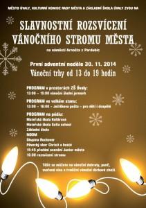 2014 rozsvícení vánočního stromu