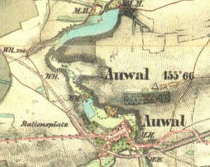 mapa Hodov, Úvaly