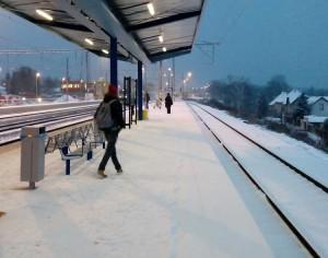 nádraží Úvaly, leden 2016