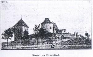 kostel na Hradešíně