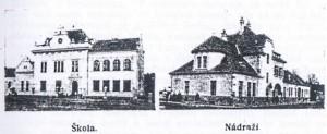 škola a nádraží